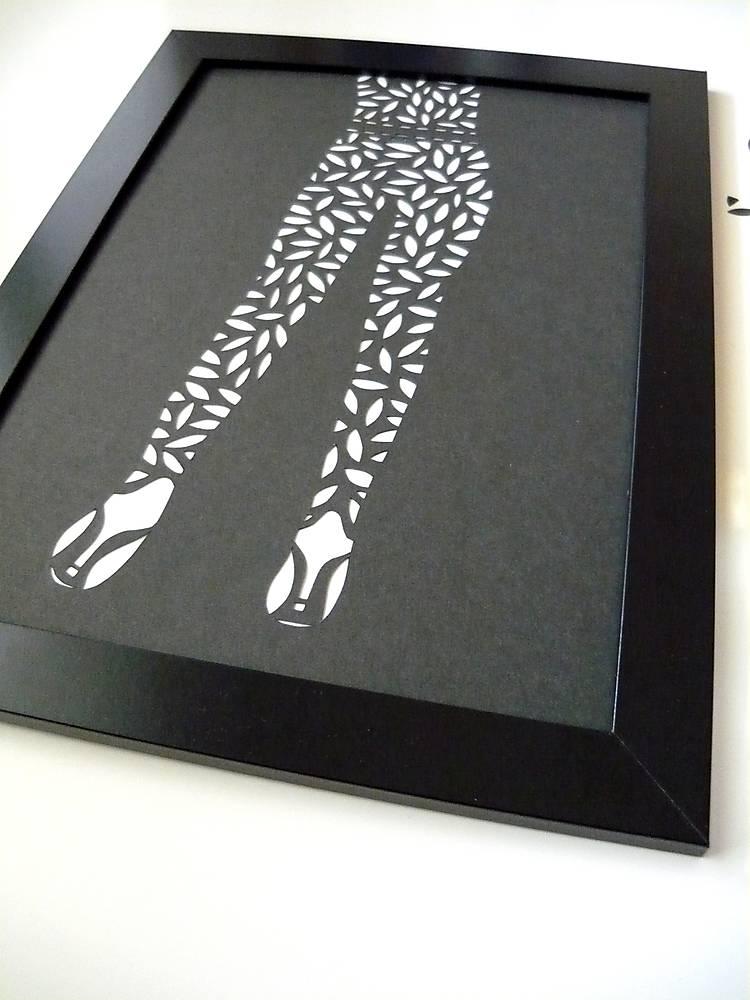Oblečená v lístkovom...   dzinus - SAShE.sk - Handmade Obrazy 4524517c52