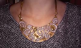 Náhrdelníky - Zlato - bronzový - 5199387_
