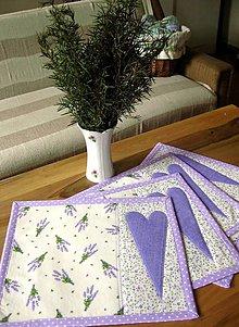 Úžitkový textil - levanduľa na stole 2... - 5198782_
