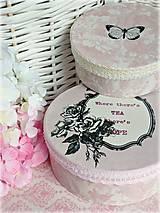Krabičky - Shabby pink krabičky - 5197229_