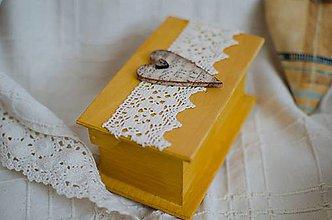 Krabičky - Drevená šperkovnica - 5197204_