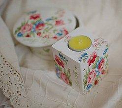 Svietidlá a sviečky - Drevený svietnik - 5197348_