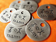 Kľúčenky - ..svadobne :) / cena za 1ks - 5201903_