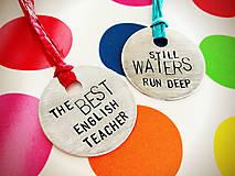 Kľúčenky - THE BEST TEACHER :) / cena za 1ks - 5202044_