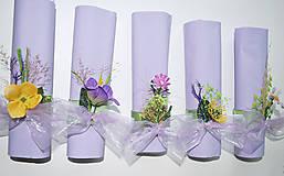 Dekorácie - Záhradná párty- ozdoby na servítky - 5200235_