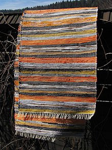 Úžitkový textil - tkaný koberec 70 x 300 cm oranž - 5200372_
