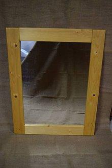 Zrkadlá - Drevené zrkadlo č.3 - 5202802_