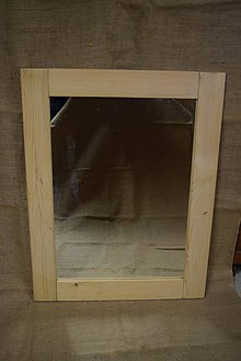 Zrkadlá - Drevené zrkadlo č. 5 - 5202844_