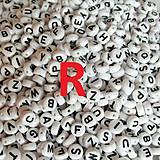 - Korálky písmeno R krúžky biele 6 mm - 5200341_