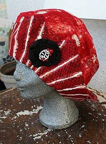 Čiapky - originálny baretka káro - 5200696_