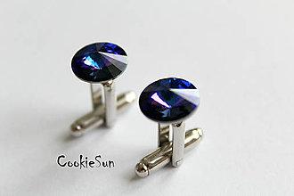 Šperky - Manžetové gombíky Swarovski Rivoli Heliotrope - 5200020_