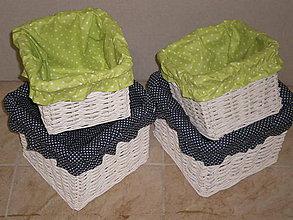Úžitkový textil - Košíky pre Mirku - šili sme na želanie poťahy do košíkov - 5200242_