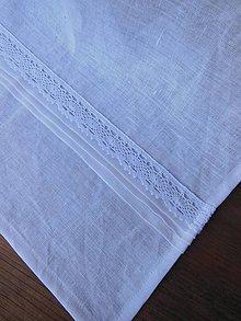 Úžitkový textil - Ľanová utierka White Madness - 5203126_
