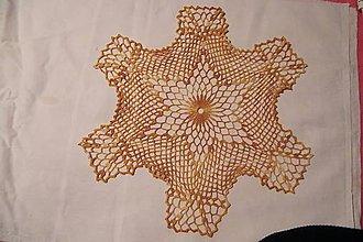 Úžitkový textil - Háčkovaná melírovaná dečka šesťuholníková - 5203765_