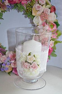Dekorácie - Shabby váza alebo svietnik - 5205420_