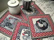 Úžitkový textil - Kohúti z Provence ... sada 4 ks - 5204721_