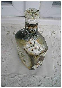 Nádoby - fľaša s margarétkami - 5204630_