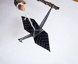 Dekorácie - Vánoční jeřáb černý se šipkami - 5206367_