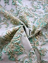 Textil - Exkluzívny hodvábny brokát - 5205637_