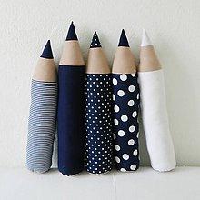 Úžitkový textil - Tmavomodré ceruzky - 5207044_