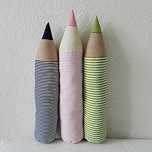 Úžitkový textil - Pásikavé ceruzky - 5207072_