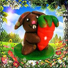 Dekorácie - Veľkonočné figúrky (zajačik) - 5205511_