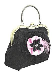 Kabelky - Spoločenská kabelka čierná, kabelka dámská  0972 - 5209953_