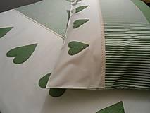Úžitkový textil - posteľná bielizeň smotanovo-zelená - 5210719_