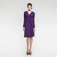 Šaty - Fialové zavinovacie šaty - 5207863_
