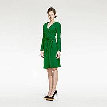 Šaty - Zelené zavinovacie šaty - 5208905_