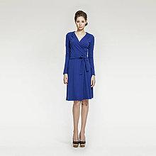 Šaty - Modré zavinovacie šaty - 5208937_