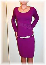 Šaty - Šaty vz.237 celoroční(více barev) (Fialová) - 5210282_