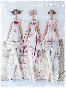 Bábiky - Tilda v štýle Green Gate ružičiek - 5211059_