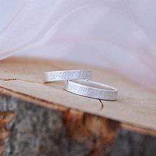 Prstene - Obrúčky s gravírovaním na želanie - 5211404_
