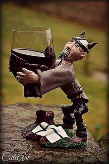 Nádoby - Pohár na víno - s figúrkou podľa fotky - 5209884_