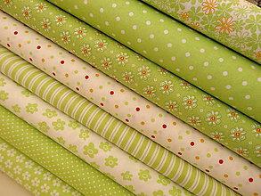 Textil - bavlnené látky -NOVINKA-prekrásne  jarné zelené odtiene odtiene - 5207438_