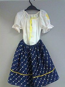 Detské oblečenie - Kroj pre dievčatko - modrý..... - 5208853_