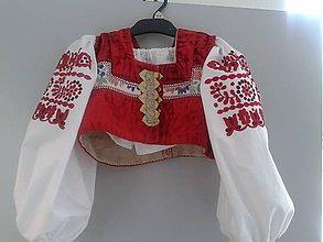 Detské oblečenie - Oplecko červené .... - 5208921_