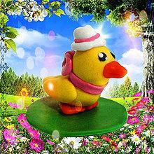 Dekorácie - Veľkonočné húsatko - figúrka - 5207913_