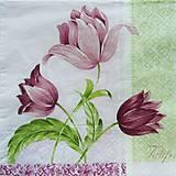 - S328 - Servítky - tulipány ružové - 5212065_
