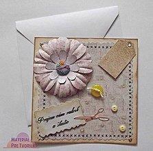 Papiernictvo - Prajem vám radosť a šťastie/ pohľadnicové vyznanie - 5212663_