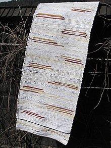 Úžitkový textil - koberec tkaný  biely 60 x 350 cm - 5214806_