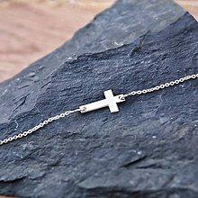 Náhrdelníky - Pozdĺžny Mini krížik - 5211911_