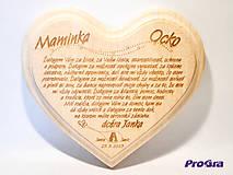 Tabuľky -  Poďakovanie rodičom - veľké lipové - Zaľúbenci - 5215452_