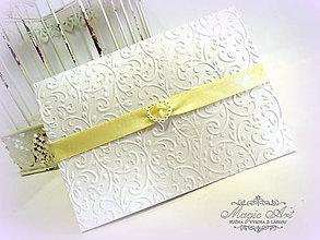 """Papiernictvo - Svadobné oznámenie """"Gold Paloma"""" - 5212435_"""
