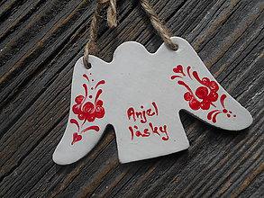 Dekorácie - anjel lásky / folk. ornament - 5213318_