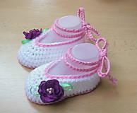 Topánočky - Balerínky s kvetinkou - 5216138_
