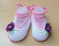 Topánočky - Balerínky s kvetinkou - 5216139_