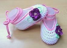 Topánočky - Balerínky s kvetinkou - 5216140_