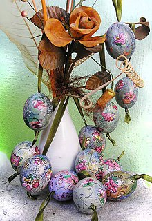 Dekorácie - veľonočné vajíčko-vintage Art dekor - 5218035_